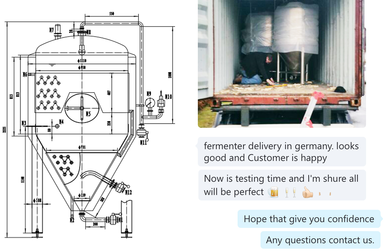 Germany Beer Brewery Equipment 700L and 1400L - Jinan Zhuoda ...